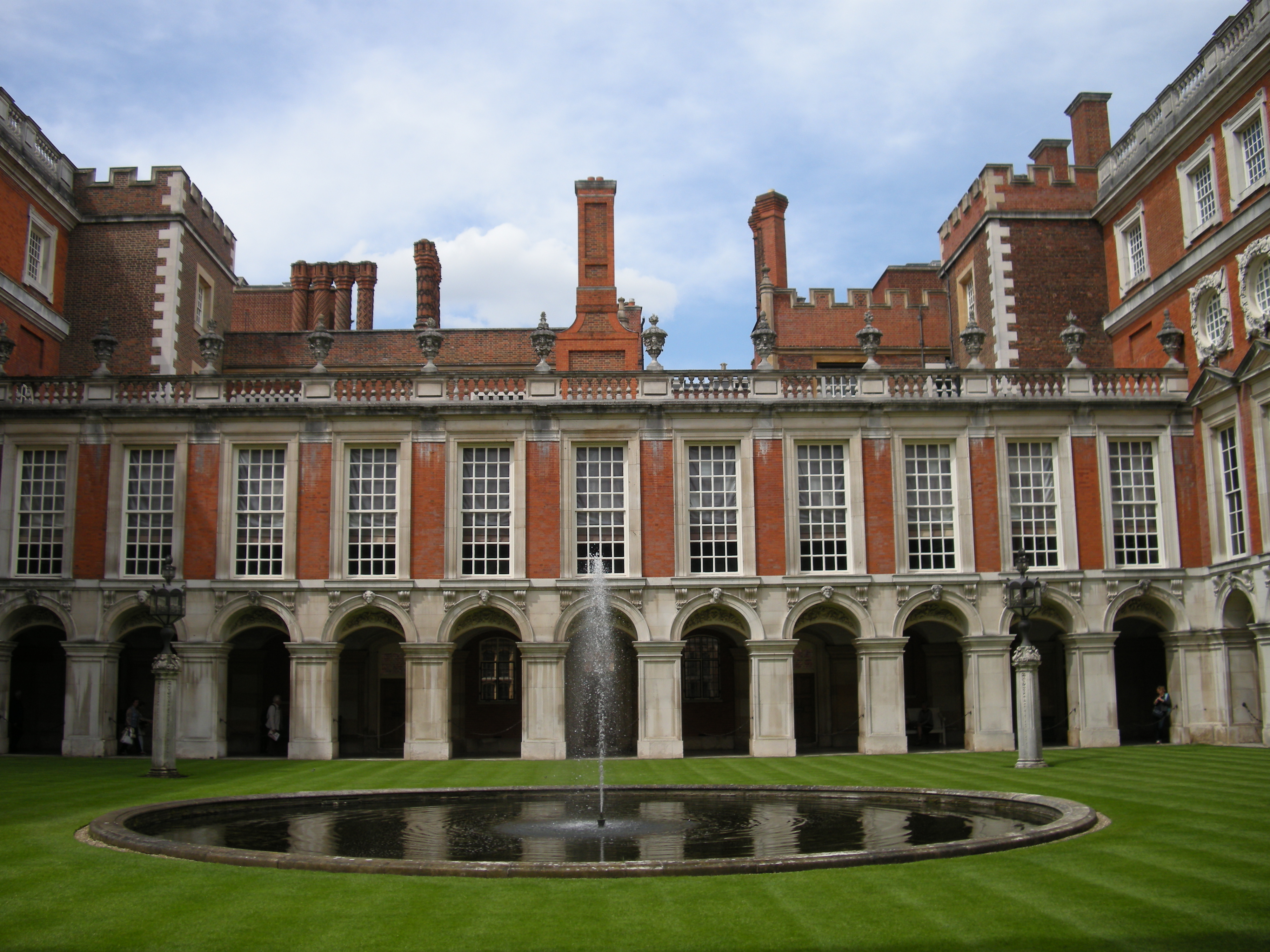 Hampton Court Palace courtyard