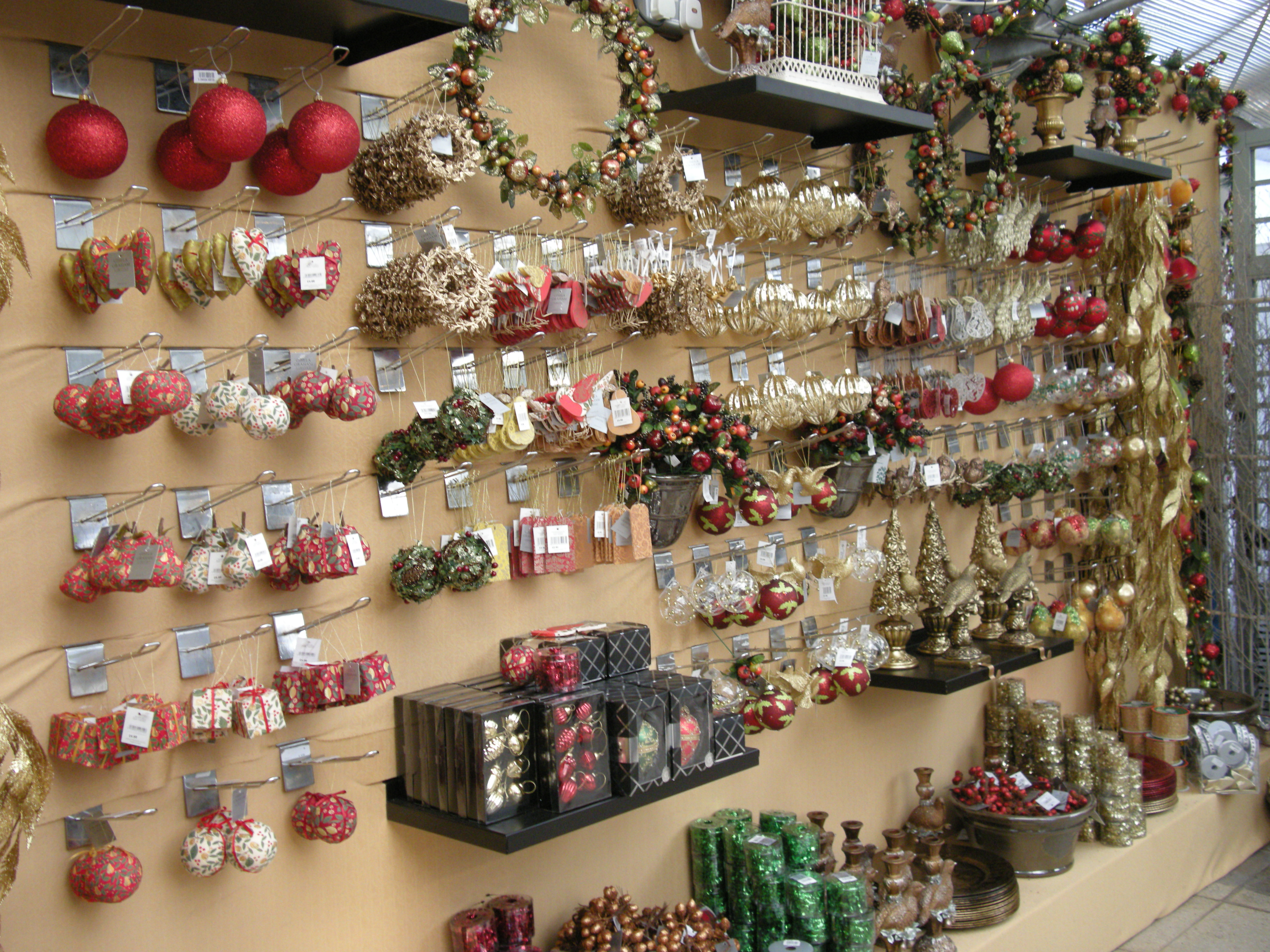 Christmas decoration shop
