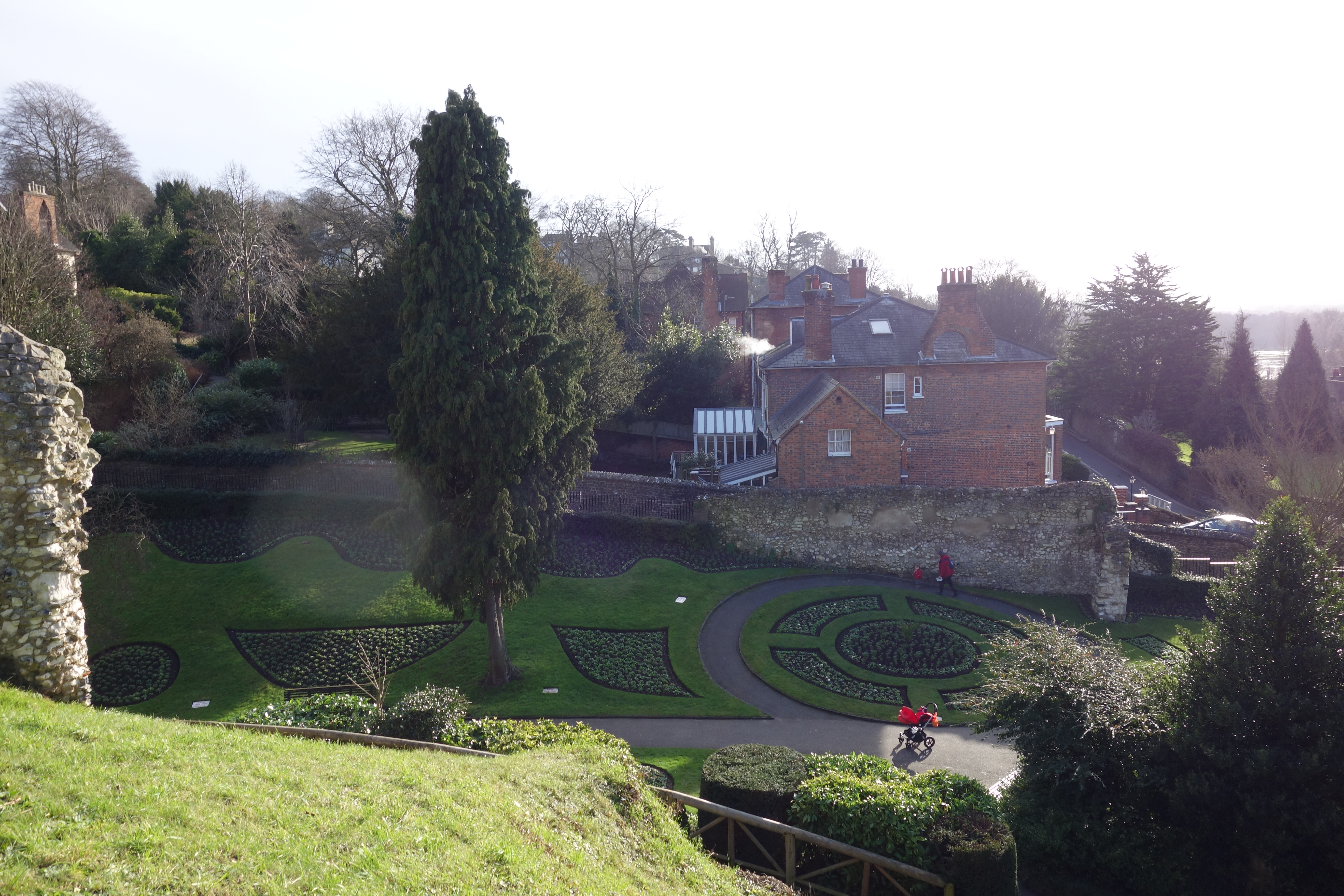 View from Guildford Castle